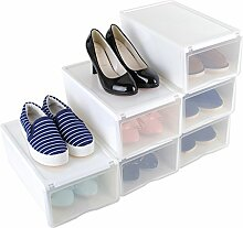 Stapelbar Schuhbox Transparent 6er Set Schuhboxen