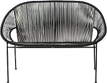 Stapelbare Gartenbank 2/3-Sitzer aus