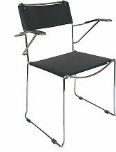 Stapelbare Sessel mit Gestell aus Stahl & Sitz aus