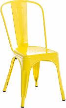 Stapelbarer Metall Stuhl Benedikt-gelb