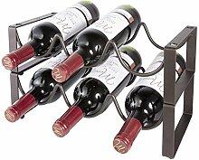 Stapelbares Weinregal mit 2 Etagen für 6