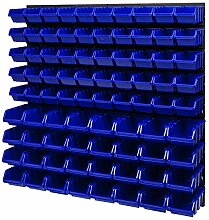4x Wandregal Lagersystem 24 Boxen Halterungen 780 x 772 mm Stapelboxen Set