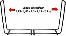 Stapelhilfe 1,75-2,3 m ausziehbar Brennholz