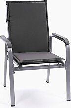 Stapelstuhl Mittellehner Auflagen Kuba 50234-702 in grau 107 cm lang (ohne Sessel)