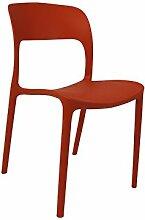 "Stapelstuhl Stuhl Esszimmerstul Essstuhl Küchenstuhl Kunststoff ""Hillary I"" (orange)"
