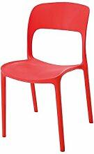 "Stapelstuhl Stuhl Esszimmerstul Essstuhl Küchenstuhl Kunststoff ""Hillary I"" (rot)"