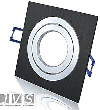 STAR BLACK 230V QUADRAT Halogen LED SMD inkl. GU10 Fassung (inkl. 15cm Anschlusskabel) Decken Einbaustrahler Einbauspots Deckenspots (Halogen 50W)
