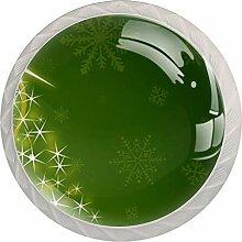 Star Christma Stree Schubladenknauf aus Glas,