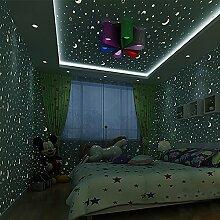 Star fluoreszierende Wallpaper/Junge Kind leuchtende Tapete/Kinder Zimmer Schlafzimmer Tapeten/Decke Lampe Pool Tapete/Vliestapete-A