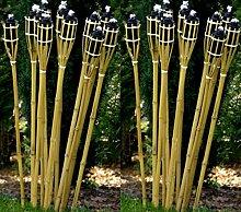 STAR-LINE 12 Gartenfackel Bambusfackel 120 cm