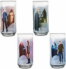 Star Trek Glas-Set mit Kirk, Spock, Uhura und
