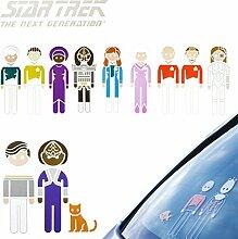 Star Trek The Next Generation Family Auto Aufkleber