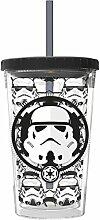 STAR WARS 01435–Becher für Kaffee Eiscreme 473ml, Weiß und Schwarz