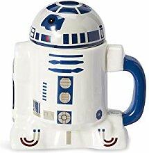 Star Wars 20oz Ceramic Figural Mug with Lid: R2-D2