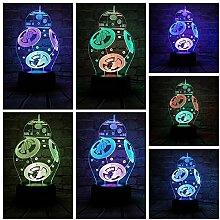 Star Wars 3D Nachtlicht Mischfarbe LED Lampe