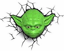 Star Wars 3D Nachtlicht Yoda's Kopf LED Lampe