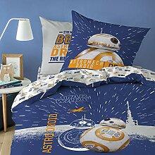 Star Wars BB8 Bettwäsche, 100% Baumwolle, Weiß,