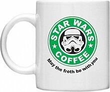 Star Wars Becher, Motiv Starbucks aus Star Wars, lustige Tasse mit Aufdruck auf mikrowellengeeignet & spülmaschinenfest 11oz Becher/Tasse