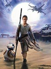 Star Wars Consalnet 2758 Vea Massacra VII Der Wecker der Force Vliestapete, 2-teilig, Größe: 206 x 275 cm