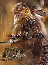 Star Wars Consalnet 2792 Vea Massacra VII Der Wecker der Force Vliestapete, mehrfarbig, 206 2-teilig x 275 cm