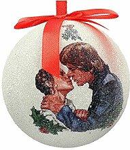 Star Wars - Han und Leia Weihnachtskugel, weiß,