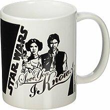 Star Wars I Love You Keramik Becher, mehrfarbig