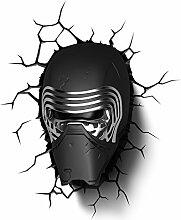 Star Wars Kylo Ren 3D LED Wandlicht Deko Lampe