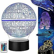 Star Wars Lampe 3D Illusion Nachtlicht 5 Stück