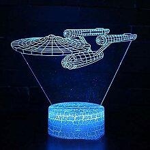 Star Wars Lampe Star Trek NCC Boot Boot 3D LED