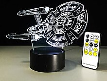 Star Wars Lampe Star Trek Ncc Schiff Boot 3D Lampe