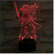 Star Wars Master Yoda 3D Tischlampe Luminaria
