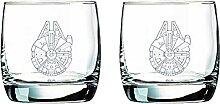 Star Wars Millennium Falcon Glas-Set,