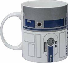 Star Wars R2D2Becher mit Druck, weiß