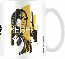 Star Wars Rogue One jyn Rebel Becher aus Keramik, mehrfarbig