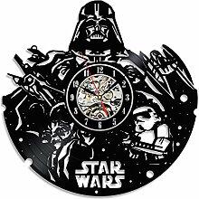 Star Wars Schwarz Dekorative Vinyl Record Wanduhr