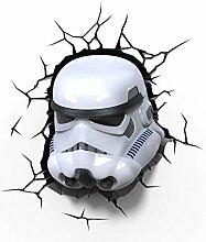 Star Wars Stormtrooper 3D Dekolampe mit Aufkleber