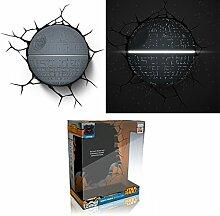 Star Wars Todesstern 3D LED Wandlicht Deko Lampe