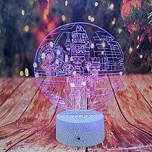 Star Wars Todesstern Lampe / 3d Nachtlicht / 7
