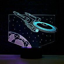 Star Wars Trek 3D Nachtlicht Double Color Show 7