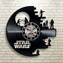 Star Wars Vinyl-Schallplatte Wanduhr,Einfache