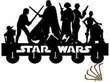 Star Wars Wandgarderobe/Türhaken, aus schwarzem