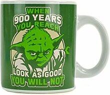 Star Wars™ Yoda Becher, für Star-Wars-Fans, Steingut, 350 ml, spülmaschinenfes