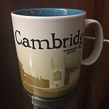 Starbucks Becher - Cambridge - Kaffebecher, 10cm x 9cm, Steingut, Spülmaschinen- und Mikrowellengeeigne