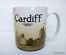 Starbucks Becher - Cardiff - Kaffebecher, 10cm x 9cm, Steingut, Spülmaschinen- und Mikrowellengeeigne