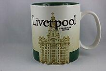 Starbucks Becher - Liverpool - Kaffebecher, 10cm x 9cm, Steingut, Spülmaschinen- und Mikrowellengeeigne