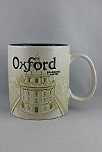 Starbucks Becher - Oxford - Kaffebecher, 10cm x 9cm, Steingut, Spülmaschinen- und Mikrowellengeeigne