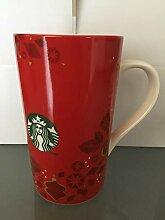 Starbucks Becher TASSE Rot Holiday mit
