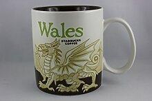 Starbucks Becher - Wales - Kaffebecher, 10cm x 9cm, Steingut, Spülmaschinen- und Mikrowellengeeigne