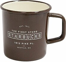 Starbucks Coffee Pike Place Emaille-Becher, 400 ml