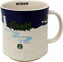 Starbucks Collector Relief Serie Wuhan Becher, 473